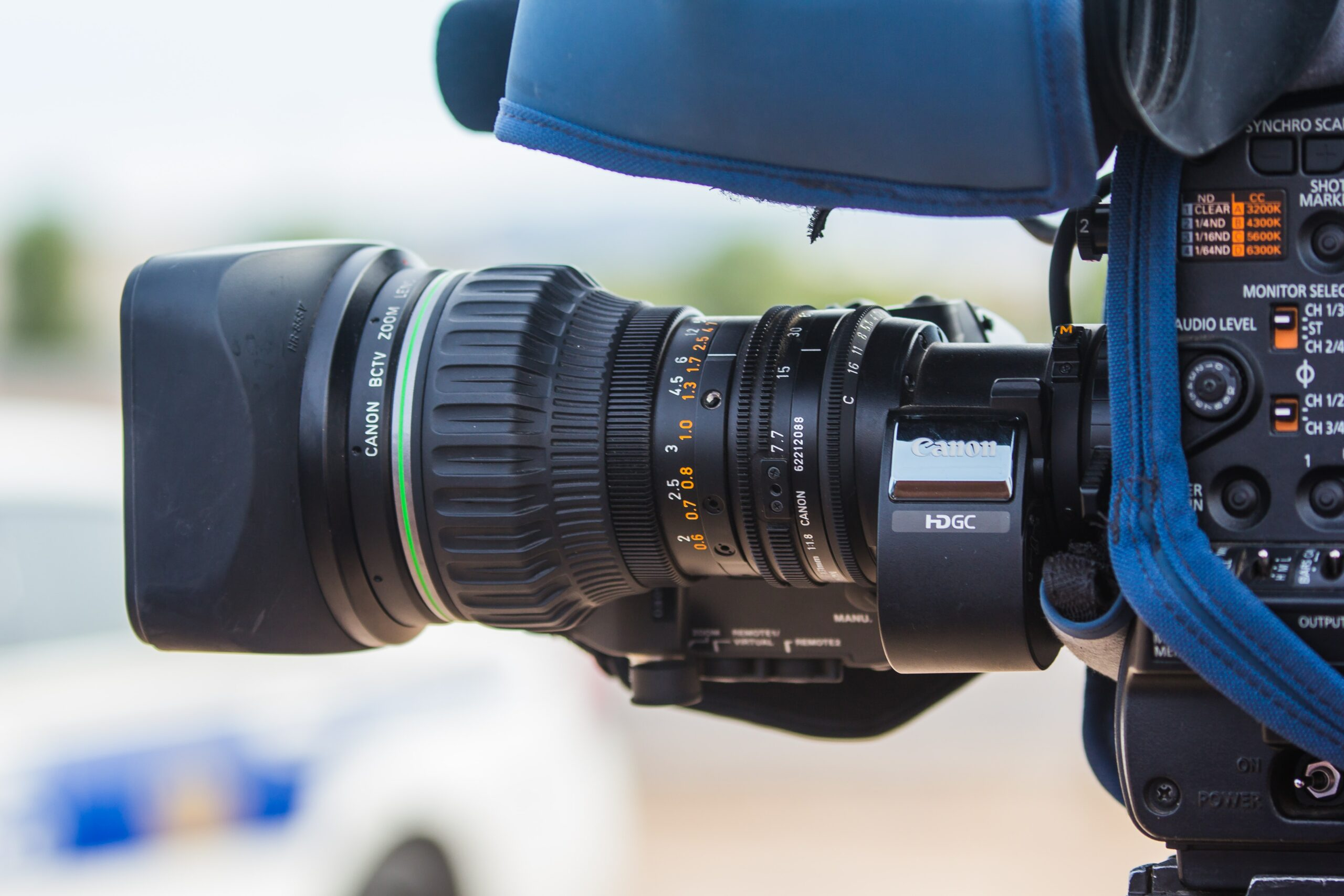 photo of black video camera